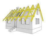 ícone de diagrama, construção de telhado de casa — Fotografia Stock