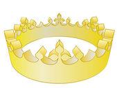 Médiévale or illustration vectorielle de gagnant couronne de roi — Vecteur