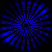 Mavi merkezi radyal flare duvar kağıdı deseni — Stok fotoğraf