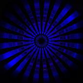 Blaue zentrum radial flare tapete muster — Stockfoto