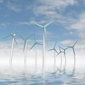 Isolated wind energy power concept — Stock Photo
