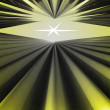 Stock Photo: Abstract yellow alight space with center white star wallpaper illustration
