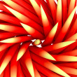 Closeup on spiky swirl red shape tile pattern - Stock Photo