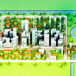 Landscape top view on new sustainable city concept development illustration — Stock Photo #12805366