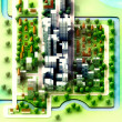 Landscape isometric view on new sustainable city concept development illust — Stock Photo #12805373