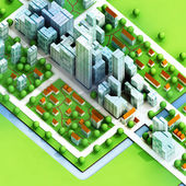 Enviromantal new sustainable city concept development illustration — Stock Photo