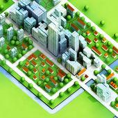 Enviromantal new sustainable city concept development illustration — Stock Photo