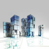 фон изолированные небоскребы бизнес города концепция иллюстрации — Стоковое фото