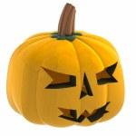 Isometric cropped pumpkin halloween face illustration — Stock Photo