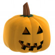 Isometric isolated pumpkin halloween scary face illustration — Stock Photo