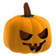 Isometric isolated pumpkin halloween smiling face illustration - Stock Photo