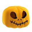 Perspective isolated pumpkin halloween face illustration - Stock Photo