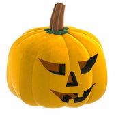 Isométrico aislados ilustración de cara de halloween calabaza naranja — Foto de Stock
