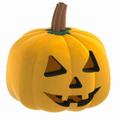 Isometric macro pumpkin halloween face illustration — Стоковое фото