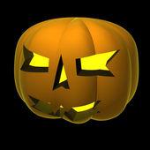 秋カボチャ笑顔黒い図の分離 — ストック写真