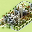 Landscape of new sustainable city concept development illustration — Stock Photo #13629091