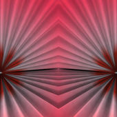 Stair abstract symmetric shape background with pink red light — Stock Photo