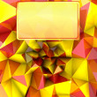 Stock Photo: Colorful shiny triangular three dimensional shape card cover illustration