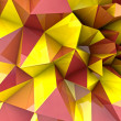 Foto Stock: Abstract autumn triangular three dimensional shape background render illust