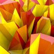 Abstract autumn triangular three dimensional shape closeup background or co — Foto Stock