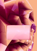 Pink orange triangular three dimensional shape card cover illustration — Stock Photo