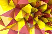 Jesień trzy tło wymiarowe kształt trójkątny renderowania ilust — Zdjęcie stockowe