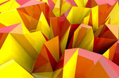 Abstract autumn triangular three dimensional shape closeup background or co — Stock Photo