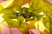 Abstract colorful autumn triangular three dimensional shape background or c — Stock Photo