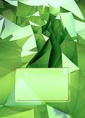 Ciemny zielony trójkątne trzech wymiarach kształt ilustracja okładki — Zdjęcie stockowe
