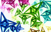 Colorful dimensional abstract shapes background — Foto de Stock