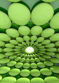 Rounded green cell cool background or template — Stock Photo