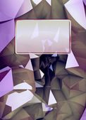 Violet triangular three dimensional shape card cover illustration — Stock Photo