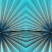 Stair abstract symmetric shape background with blue cyan light — Stock Photo