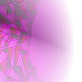 Abstraktní fialový krystalický zdi struktury pohlednice koncept — Stock vektor