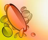 Abstrakt hösten former cool färgade vykort konceptet illustration — Stockvektor
