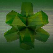 Gröna färgade koniskt abstrakta formen kvadratiska bakgrund — Stockfoto