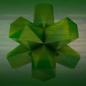 Green colored triangulated abstract shape square background — Stock Photo