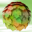 Abstract maple treetop sphere autumn blur background illustration — Stock Photo #13934640