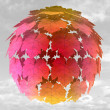 Abstract maple treetop sphere colorful in mist illustration — Stock Photo #13935275
