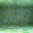Tile covered bright room interior background illustration — Photo