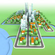 General view on sustainable city concept development on seaside illustratio — Stock Photo #13938836