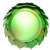 Isolated green maple treetop sphere icon template concept illustration — Stock Photo