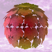 Abstract maple treetop sphere colorful concept illustration — Stock Photo