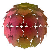 Isolated abstract maple treetop colorful autumn concept illustration — Stock Photo