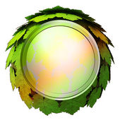 Isolated maple treetop sphere icon template concept illustration — Stock Photo