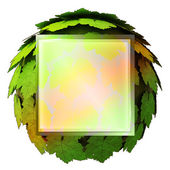 Isolated maple treetop square icon template concept illustration — Stock Photo