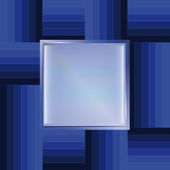 Blue line abstract template square frame vector — Vector de stock