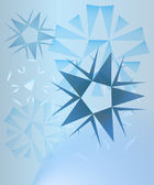 Abstract blue crystals card background vector — Stock Vector