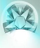 青いブリザード図形、ベクトルを空白の名刺テンプレート — ストックベクタ