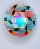 Dimensional magic lighting sphere blizzard card vector template — 图库矢量图片